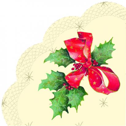 CHRISTMAS BOW cream – Rondo Napkins