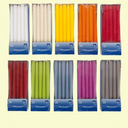 Taper Candles 10 Pieces / 7.5 Hours