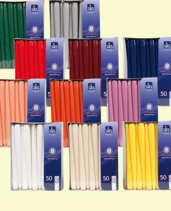 Taper Candles, 50 Pieces
