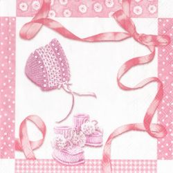 BABY SHOWER rose – Cocktail napkins
