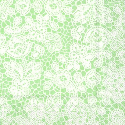 Pretty lace light green – Lunch napkins