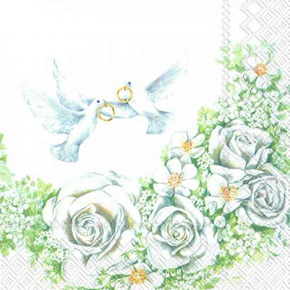 ROMANTIC DOVES – Lunch napkins
