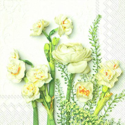 White buttercups – Lunch napkins