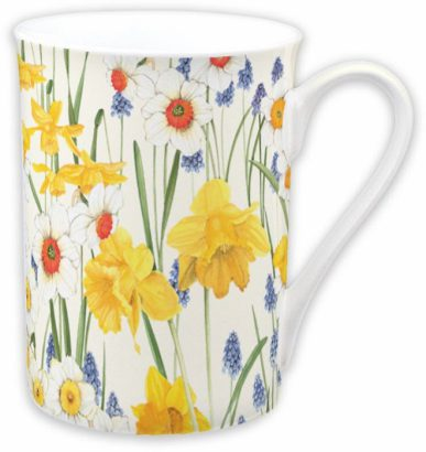 Flowers of spring cream – Bone china mug