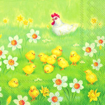 CHICKS GARDEN – Lunch napkins