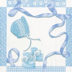 BABY SHOWER blue – Cocktail napkins