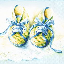 BABY SHOES blue – Cocktail napkins