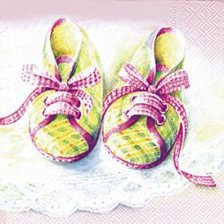 BABY SHOES rose – Cocktail napkins