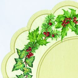 CHRISTMAS GARLAND cream – Rondo napkins
