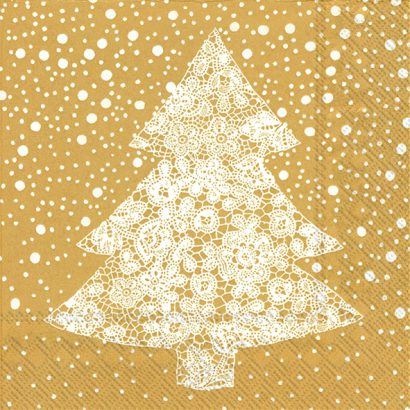 CHRISTMAS LACE gold – Cocktail napkins