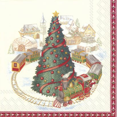 CHRISTMAS TRAIN IN TOWN (V&B) – Cocktail napkins