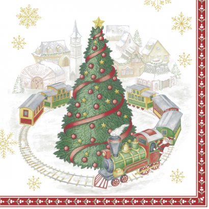 CHRISTMAS TRAIN IN TOWN (V&B) – Lunch napkins