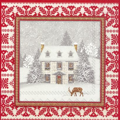 COSY HOME red – Lunch Napkins