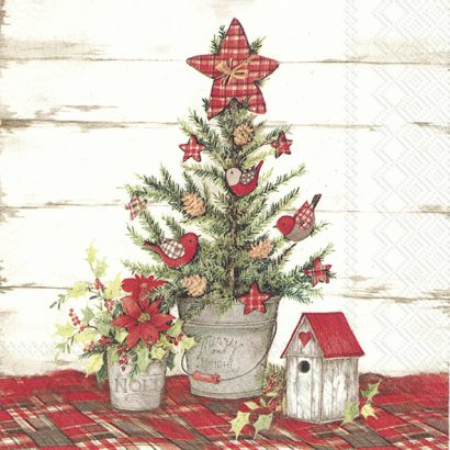 COTTAGE CHRISTMAS TREE – Lunch Napkins