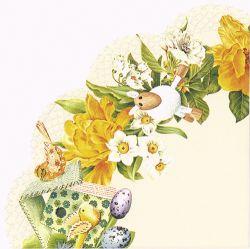 Daffodil wreath cream – Rondo napkins