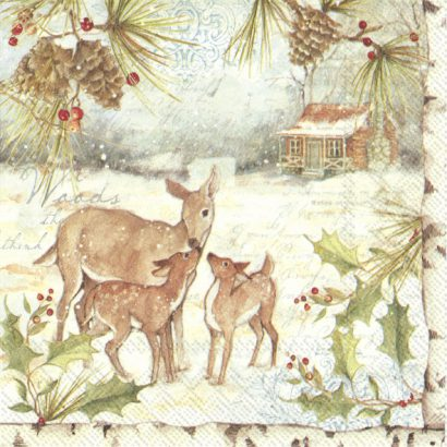 DEER FAMILY – Cocktail napkins