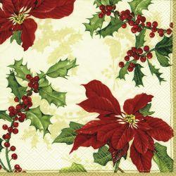 FLORAL CHRISTMAS cream – Coctail napkins