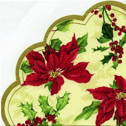 FLORAL CHRISTMAS cream – Rondo napkins